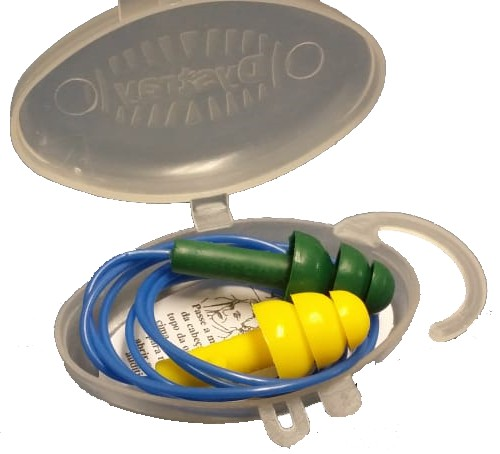 Protetor auricular tipo plug copolímero